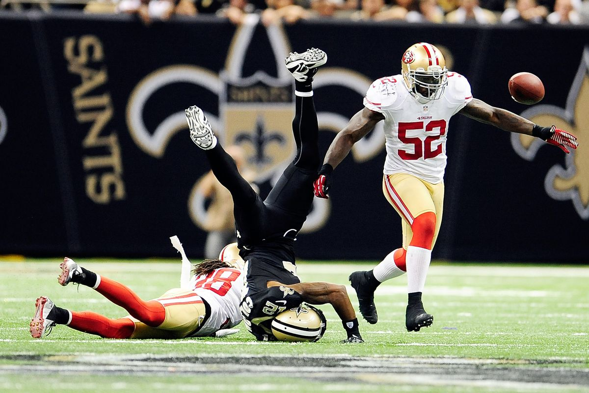 The Niners upended Colston and the Saints winning streak on Sunday.
