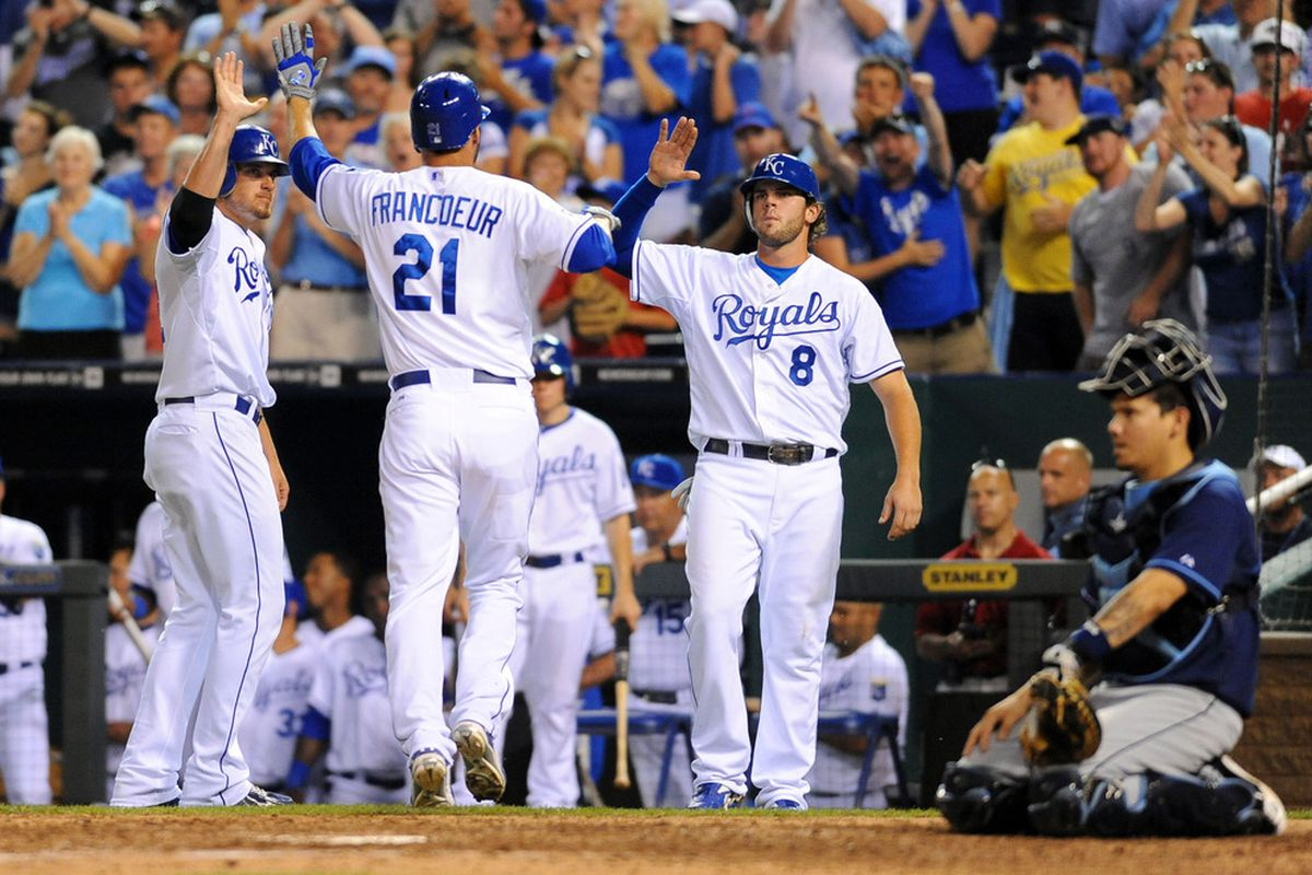 The last image taken of Maier in a Royals jersey?