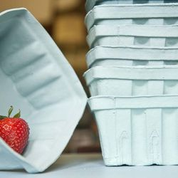 """From Glenside's Heirloom Home and Studio, theses <a href=""""http://www.etsy.com/listing/152963822/porcelain-berry-basket-large?ref=shop_home_active"""">Porcelain Berry Basket</a> ($18.95) are meant to hold fruit, but we can see these functioning as catch-alls"""