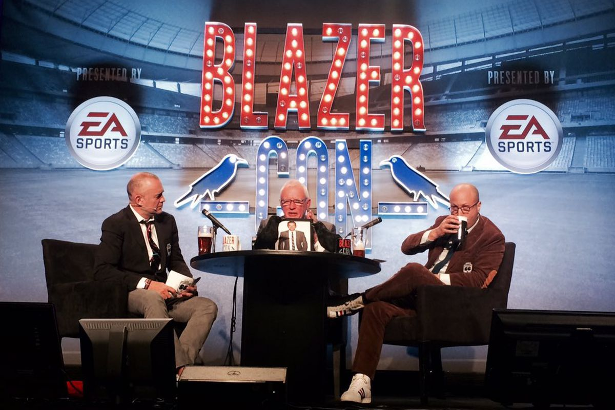 L to R: Michael Davies, Barry Hearn, and Roger Bennett