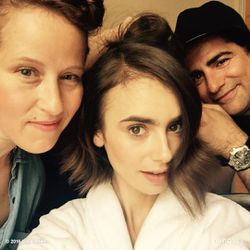 A fresh faced Lily Collins pre-glam.