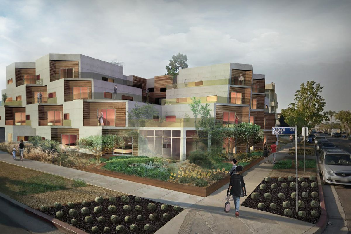 This New Mid City Apartment Building Will Replace Pink Houses That Neighbors Hate Curbed La