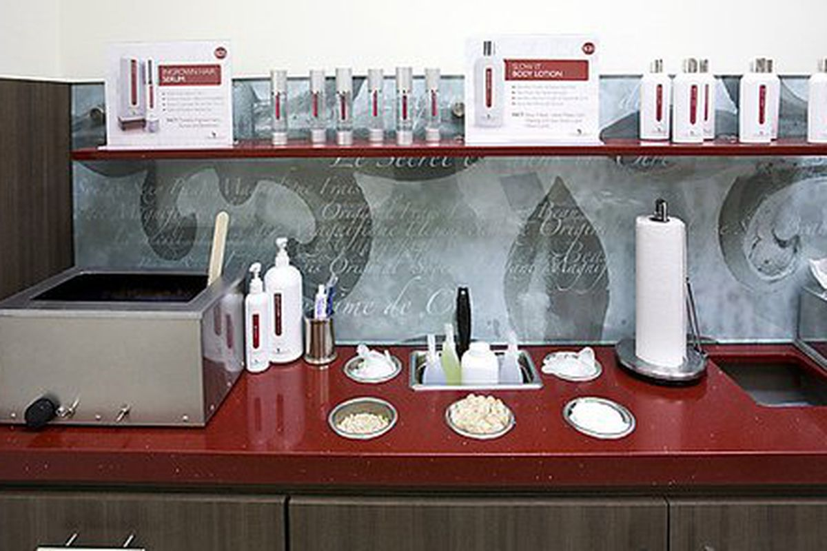"""Inside one of the waxing rooms via <a href=""""http://www.glassdoor.com/Overview/Working-at-European-Wax-Center-EI_IE397347.11,30.htm"""">Glassdoor</a>"""