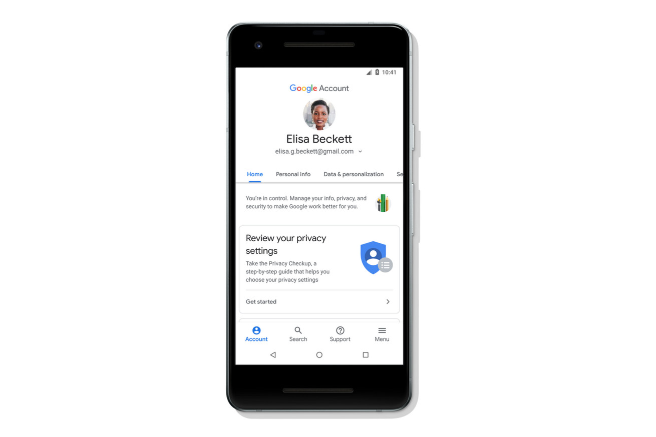 google s redesigned account hub makes it easier to control and search your settings