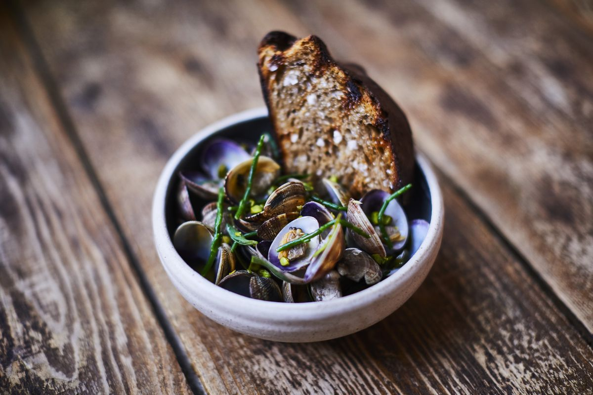Irish London restaurant Nuala has closed on Old Street — these are clams with pistachio butter