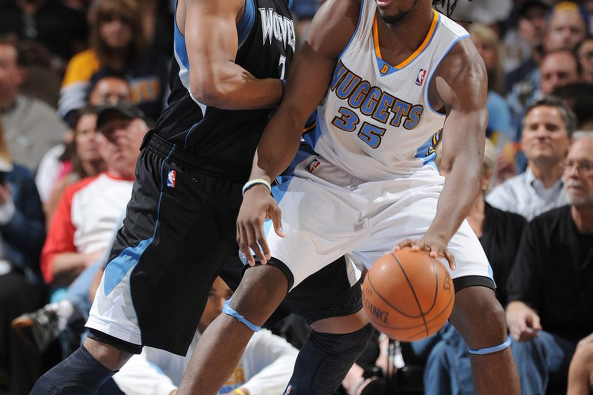Timberwolves rookie Derrick Williams has been trying to live up to Nuggets rookie Kenneth Faried - both shined in this one.