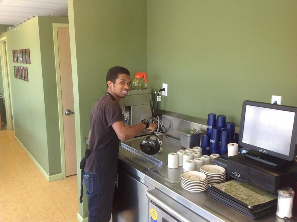 A Kula Cafe worker