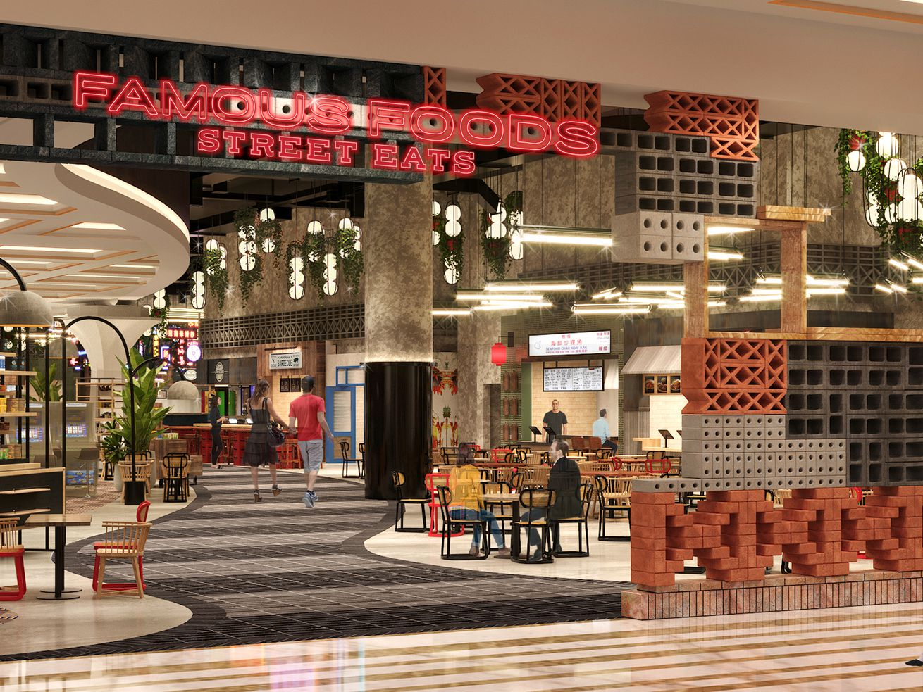 Famous Foods Street Eats will openat Resorts World Las Vegasin lateJune or early July andoffer guests a wide selection of authenticcuisines from Singapore, Malaysia, Thailand and beyond.