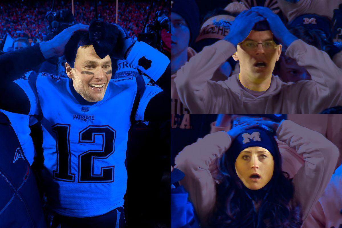detailed look 5eec3 a18de Tom Brady: king of lucky clutch. Alma mater Michigan: not ...
