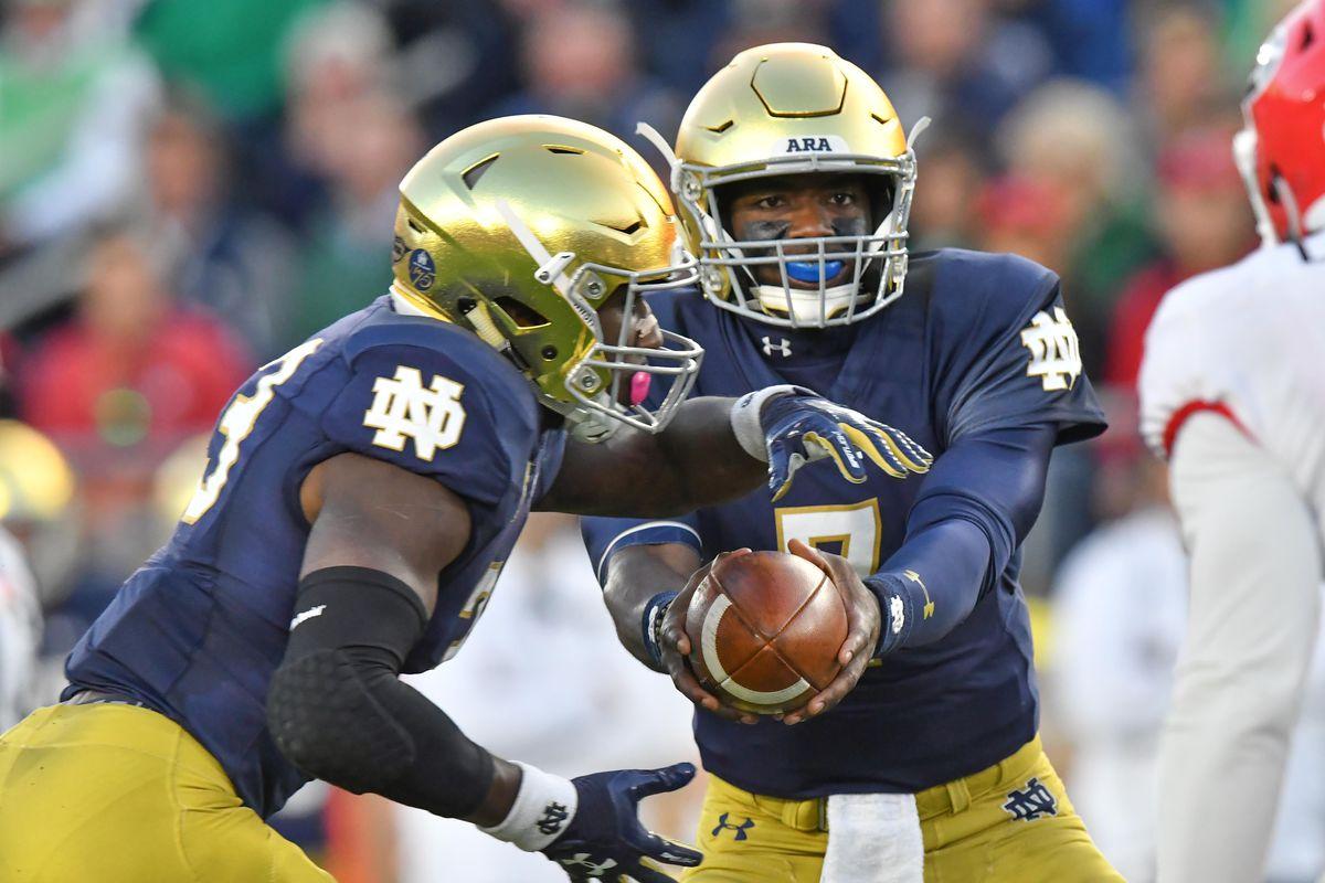 Watch: Notre Dame Scores TD After Botched Georgia Handoff