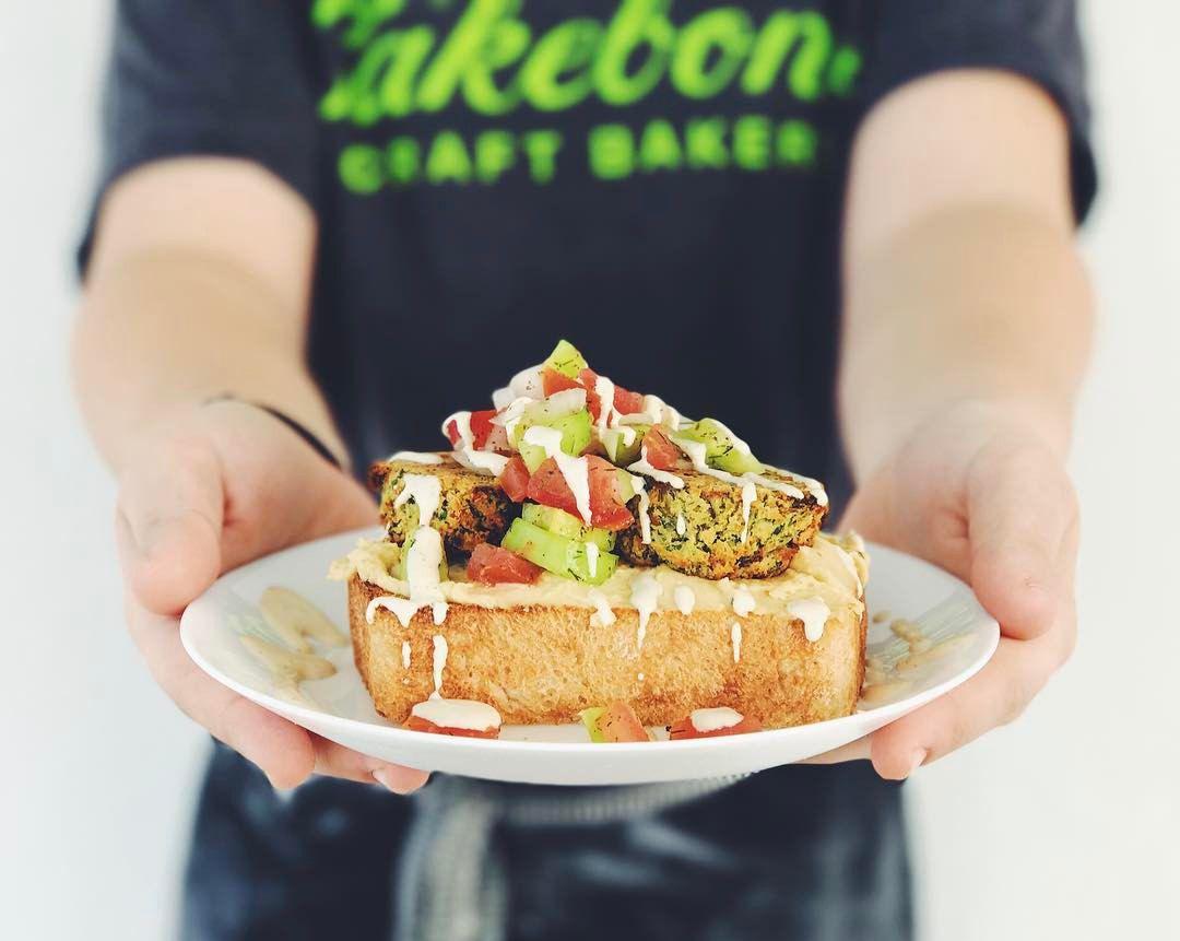 Skull & Cakebones' falafel toast