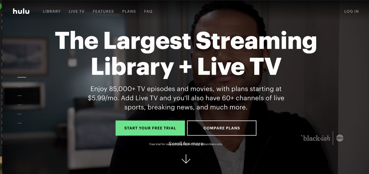 video subscriptions hulu