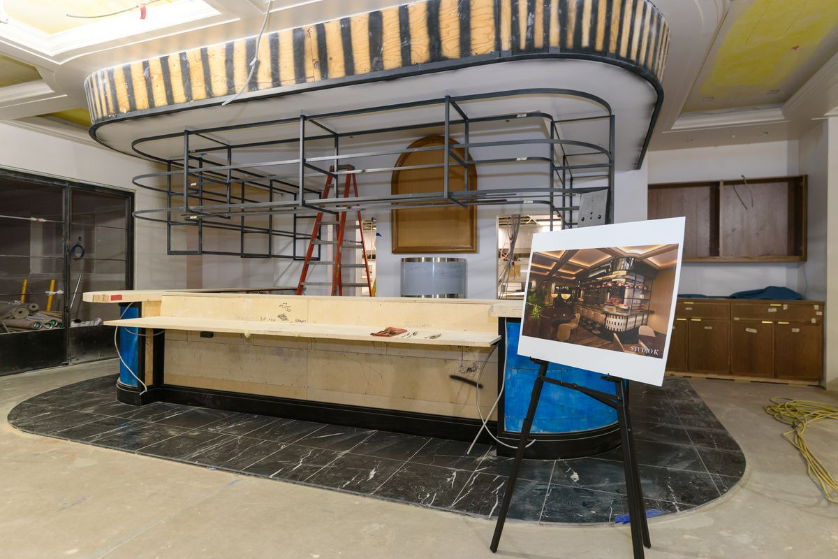 A bar under construction