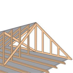 Strengthen Gable Roof At End Walls To Prevent Hurricane Damage