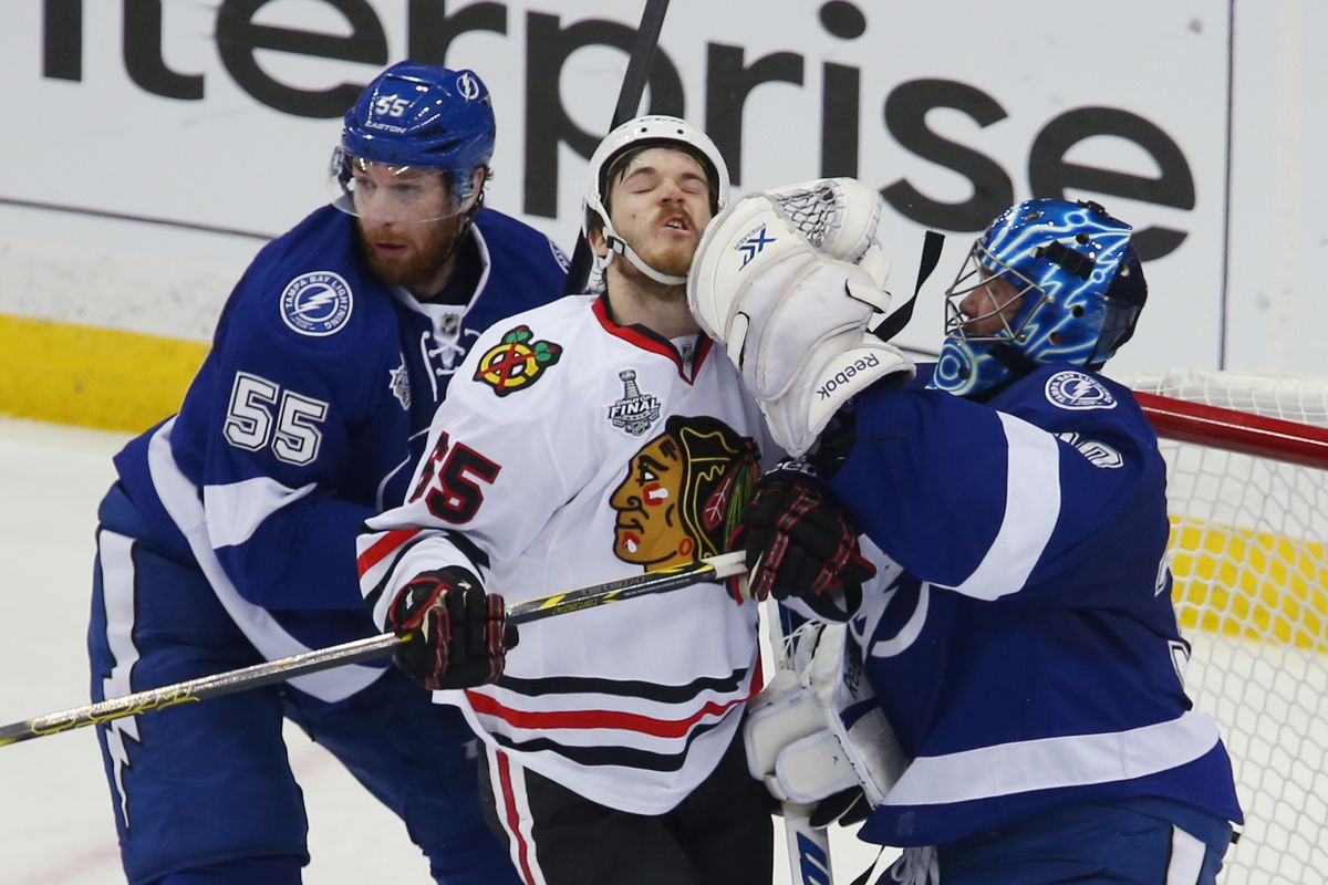 Ben Bishop does what we all want to do to Andrew Shaw.