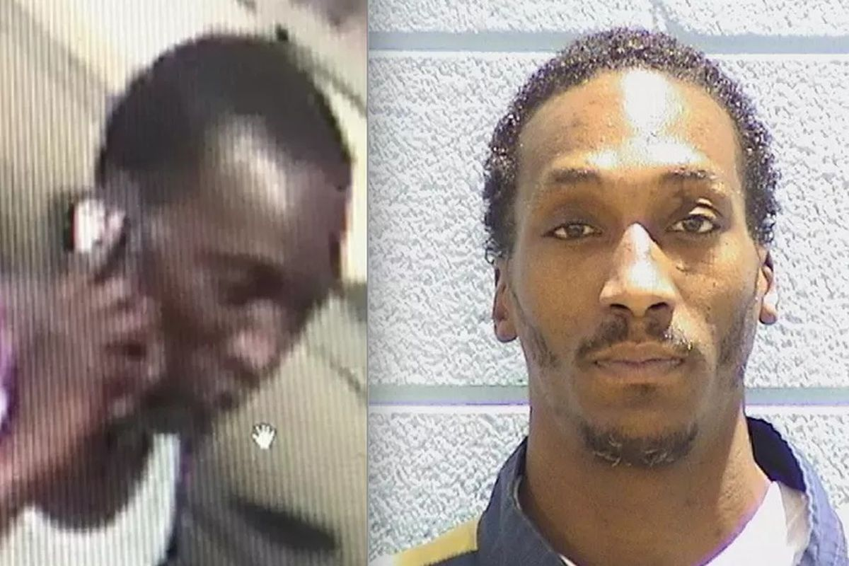 Tony Polk (right) was arrested Monday morning and charged with first-degree murder in the fatal stabbing of a man aboard a Red Line train in Chinatown over the weekend. A day after the stabbing, police released surveillance photos of people wanted for que