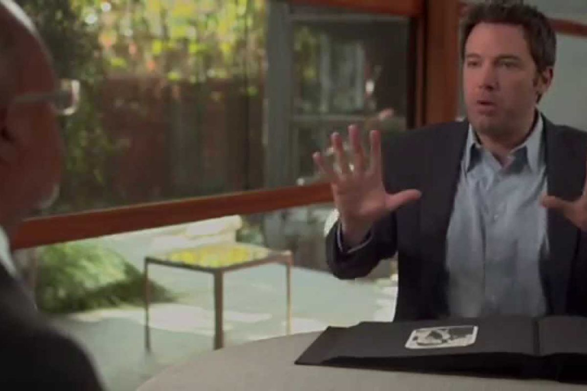 """A still from the episode of PBS' """"Finding Your Roots"""" that focused on Affleck's family"""