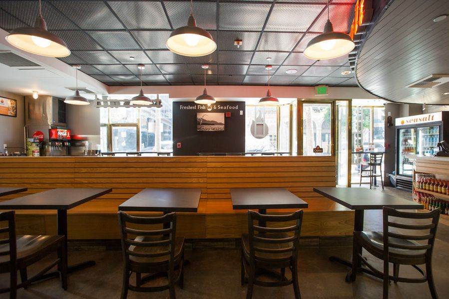 Seasalt fish grill brings quick casual seafood downtown for Seasalt fish grill