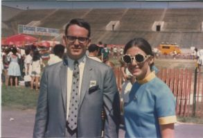Future Illinois Supreme Court Justice Anne Burke, right, and her husband, future Chicago Ald. Edward M. Burke, at the Special Olympics in 1968.   Special Olympics file photo
