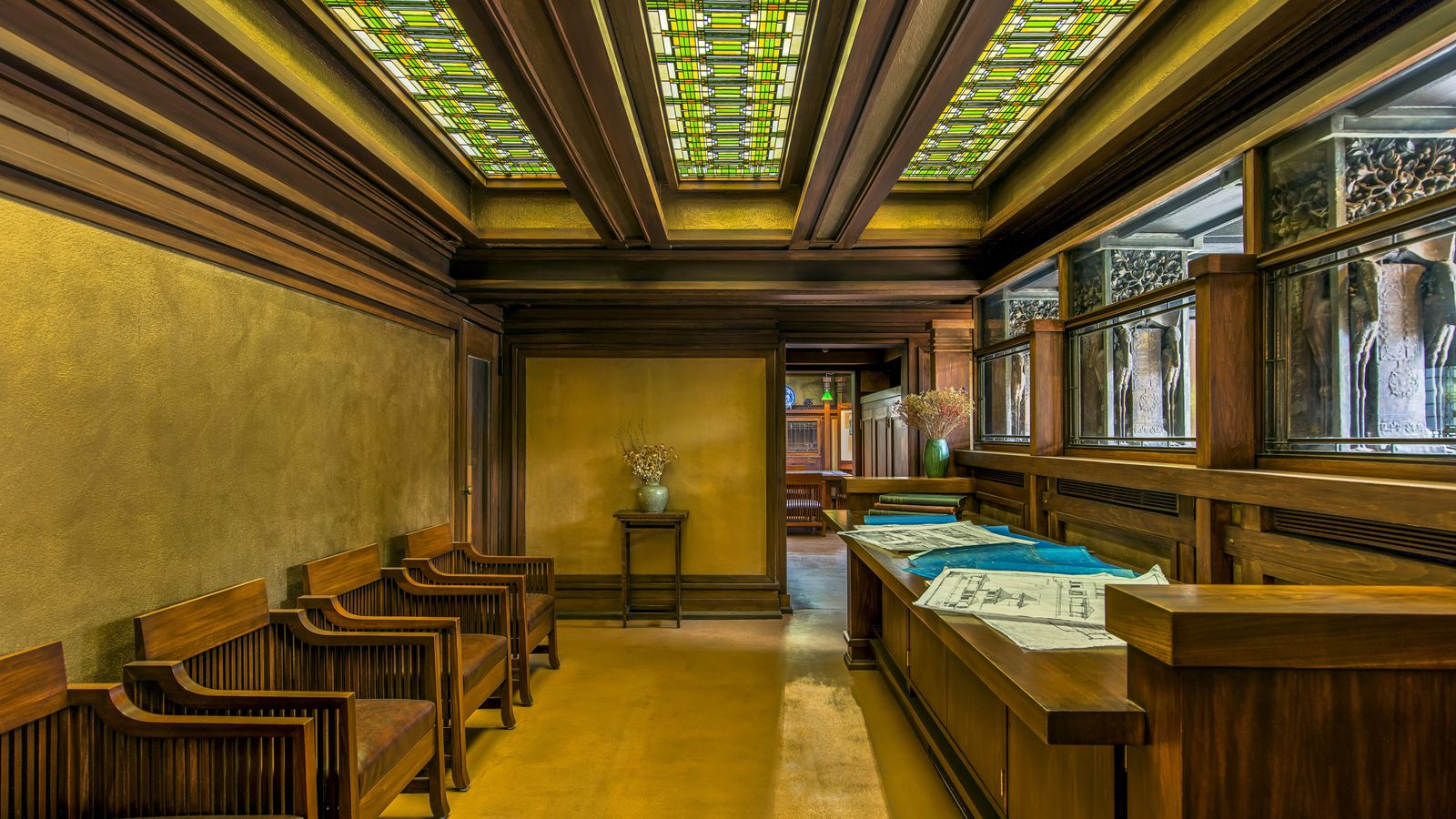 Frank lloyd wright furniture designer curbed - Frank lloyd wright designs ...