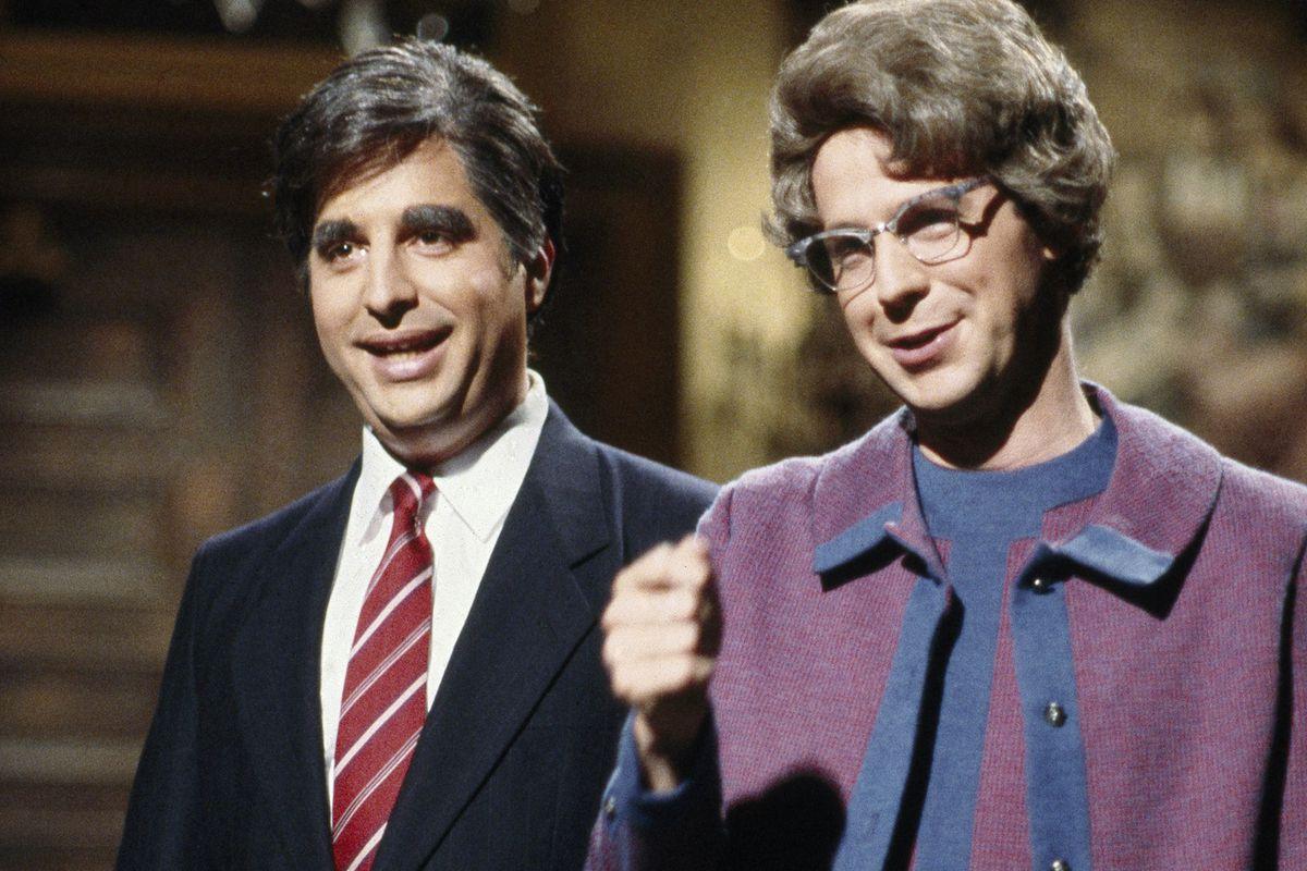 Dana Carvey as Church Lady on Saturday Night Live, with Jon Lovitz