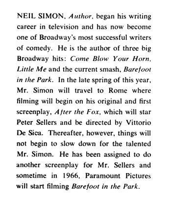 A selection from Neil Simon's Playbill biography. (Playbill)