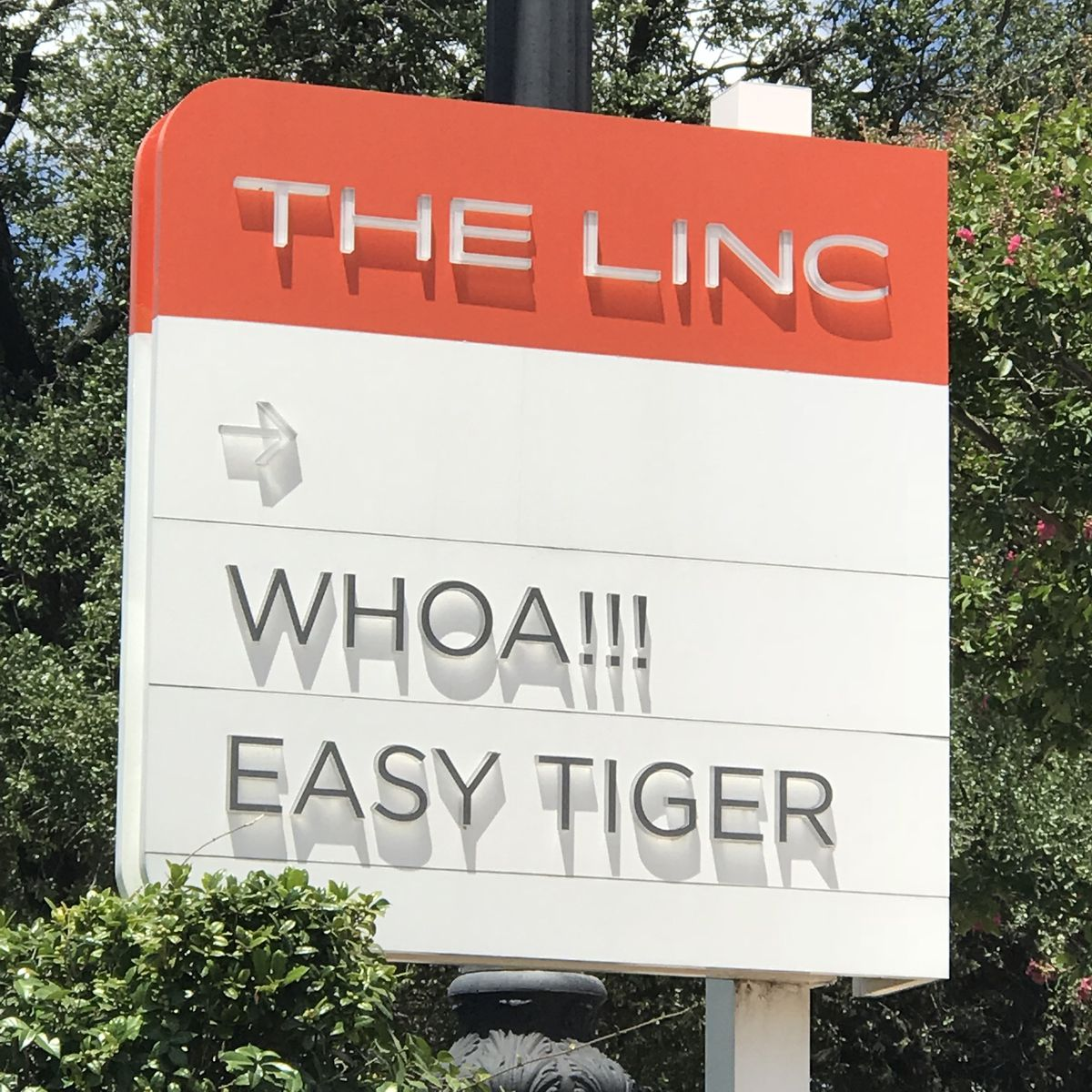 Easy Tiger's signage at the Linc