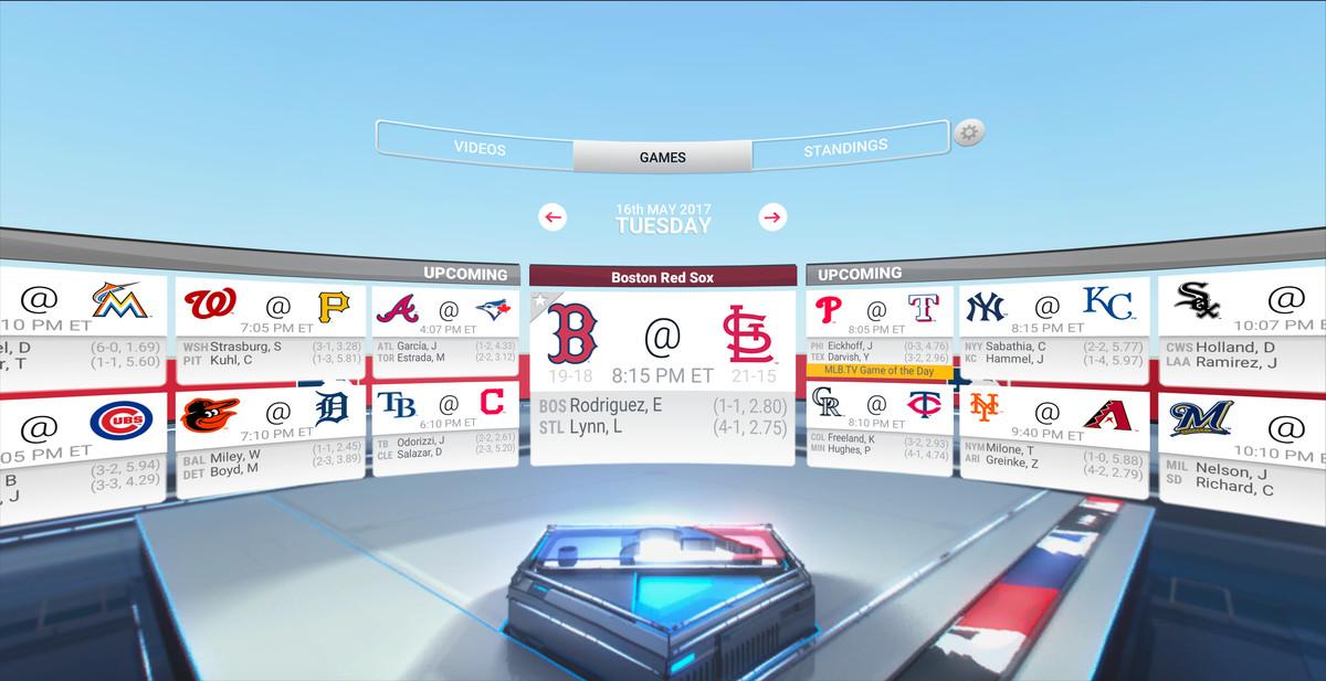 MLB.com At Bat VR - scores