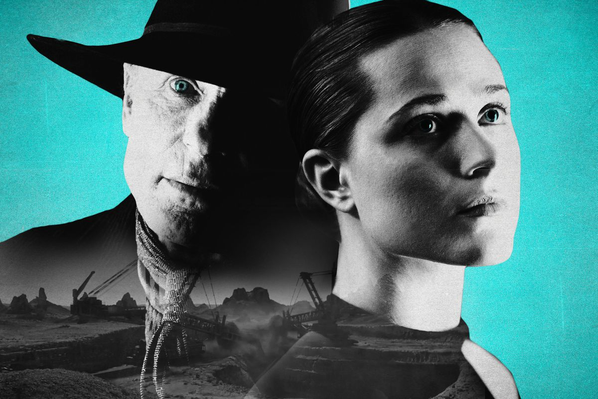 The Man in Black and Dolores in 'Westworld'