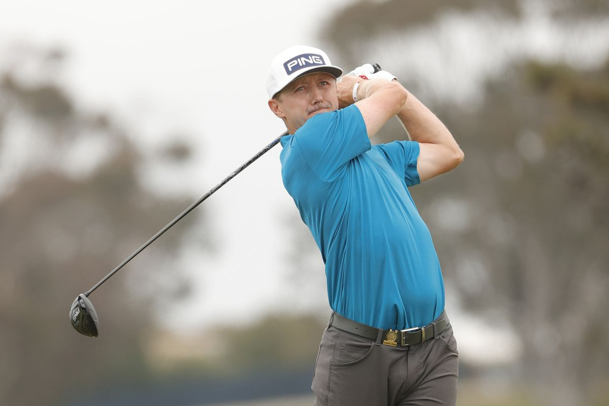 Mackenzie Hughes of Canada plays his shot from the fifth tee during the final round of the 2021 U.S. Open at Torrey Pines Golf Course (South Course) on June 20, 2021 in San Diego, California.