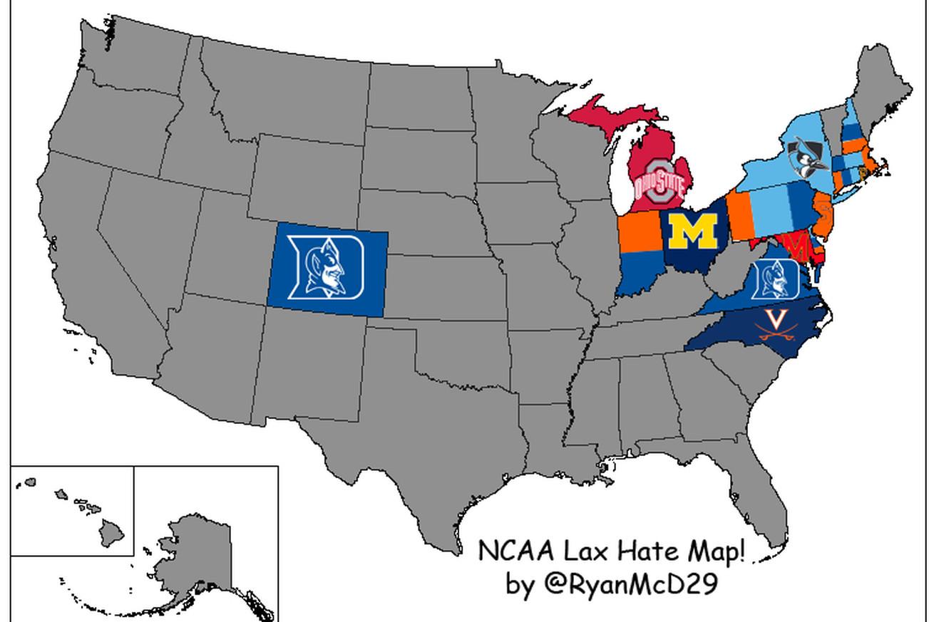breaking down the ncaa lacrosse hate map college crosse