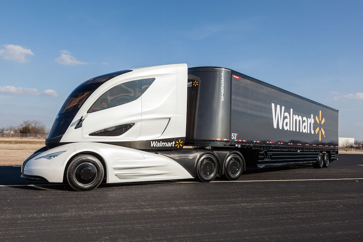 this is what walmart thinks tractor trailers of the future will look like the verge. Black Bedroom Furniture Sets. Home Design Ideas