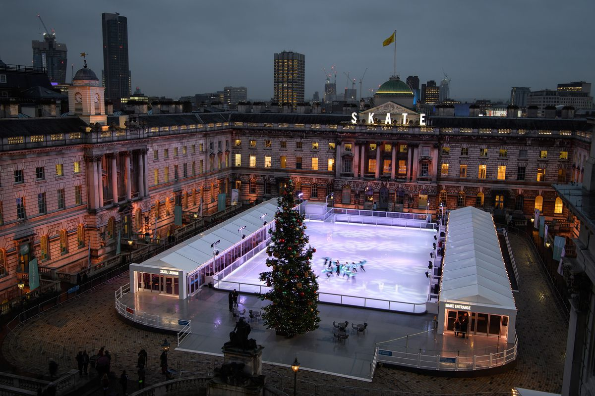 Ice Skating Rink At Somerset House Is Launched For Christmas