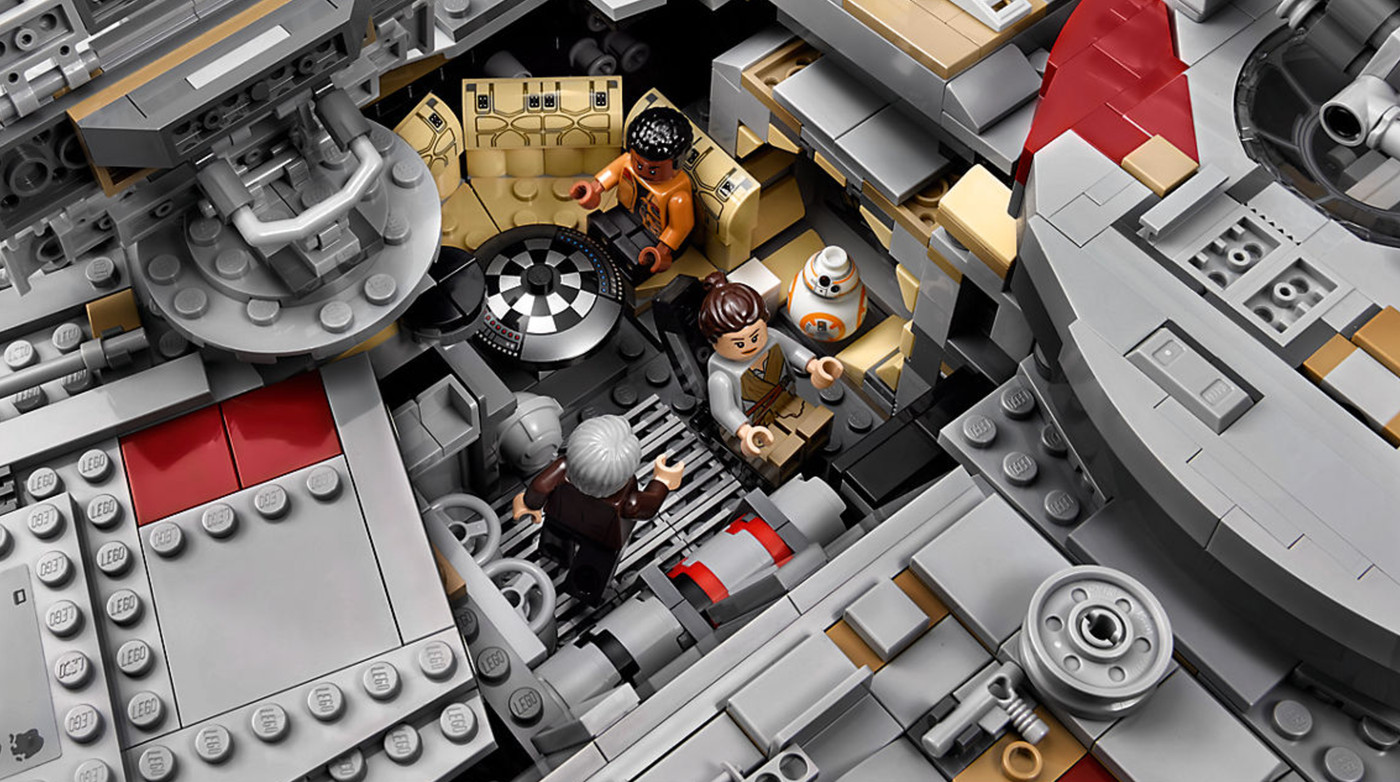 The new 7,541-piece Lego Millennium Falcon is the biggest