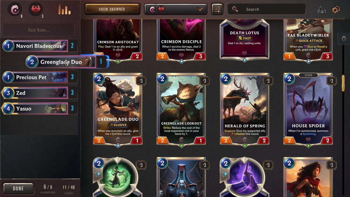 Legends of Runeterra deck