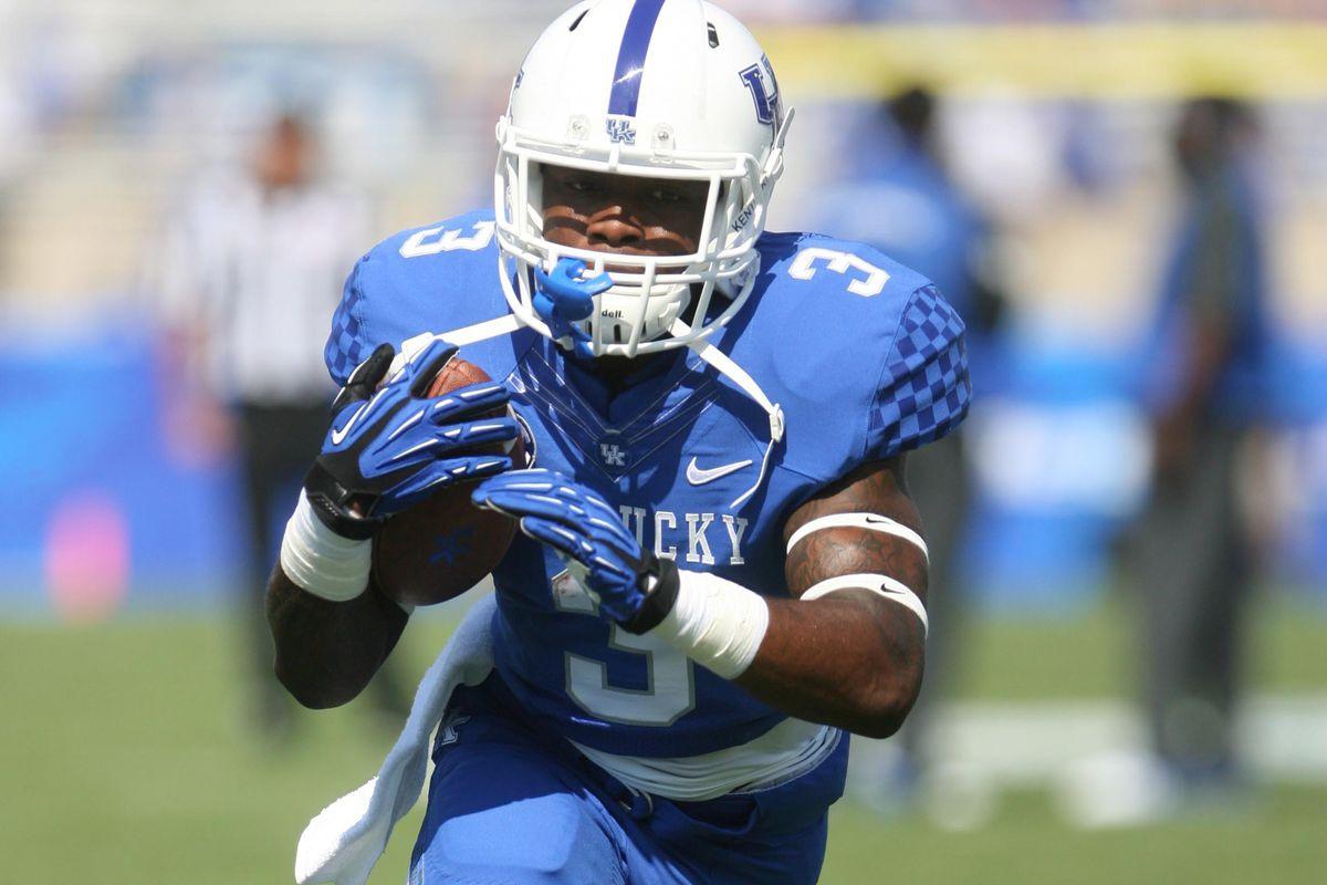 Freshman Jojo Kemp is leading Kentucky in rushing yards.