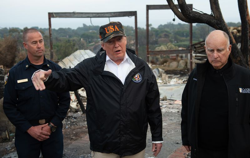President Donald Trump tours the wreckage of the Camp Fire, the deadliest and most destructive wildfire in California history.
