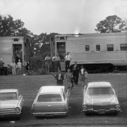 1966-FSU High Rollers arriving at Doak Sheridan Campbell Stadium for the FSU-UF game in Tallahassee.