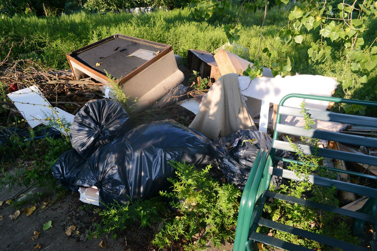 Sanitation workers have found everything from a piano to concrete slabs to old furniture while working to clean up the city's streets. It can be a difficult task; once sites are cleaned up, more debris returns, they said.