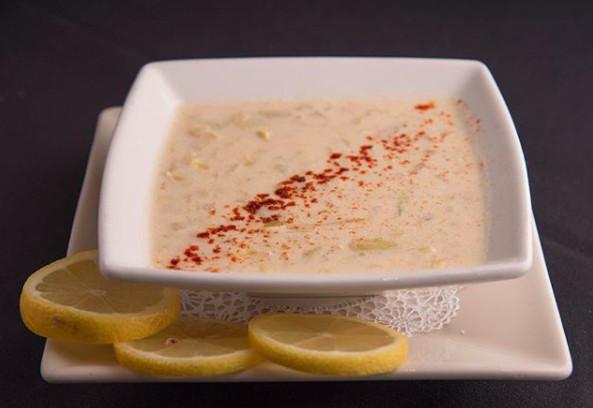 lemon artichoke soup at midtown cafe in nashville