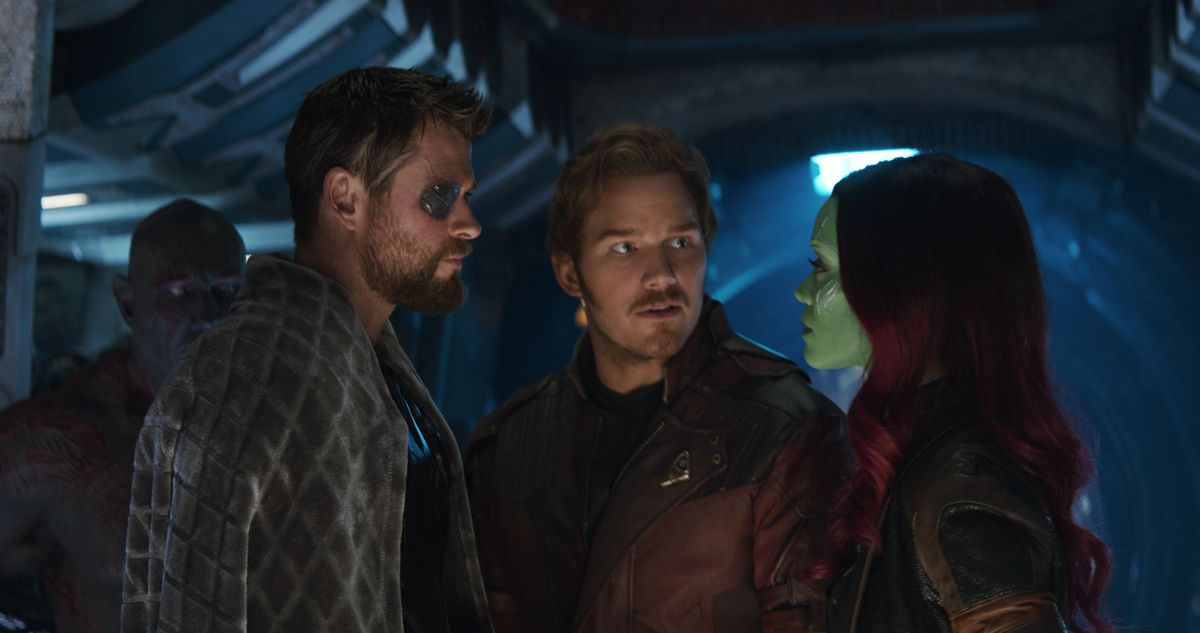 Thor, Peter Quill, and Gamora