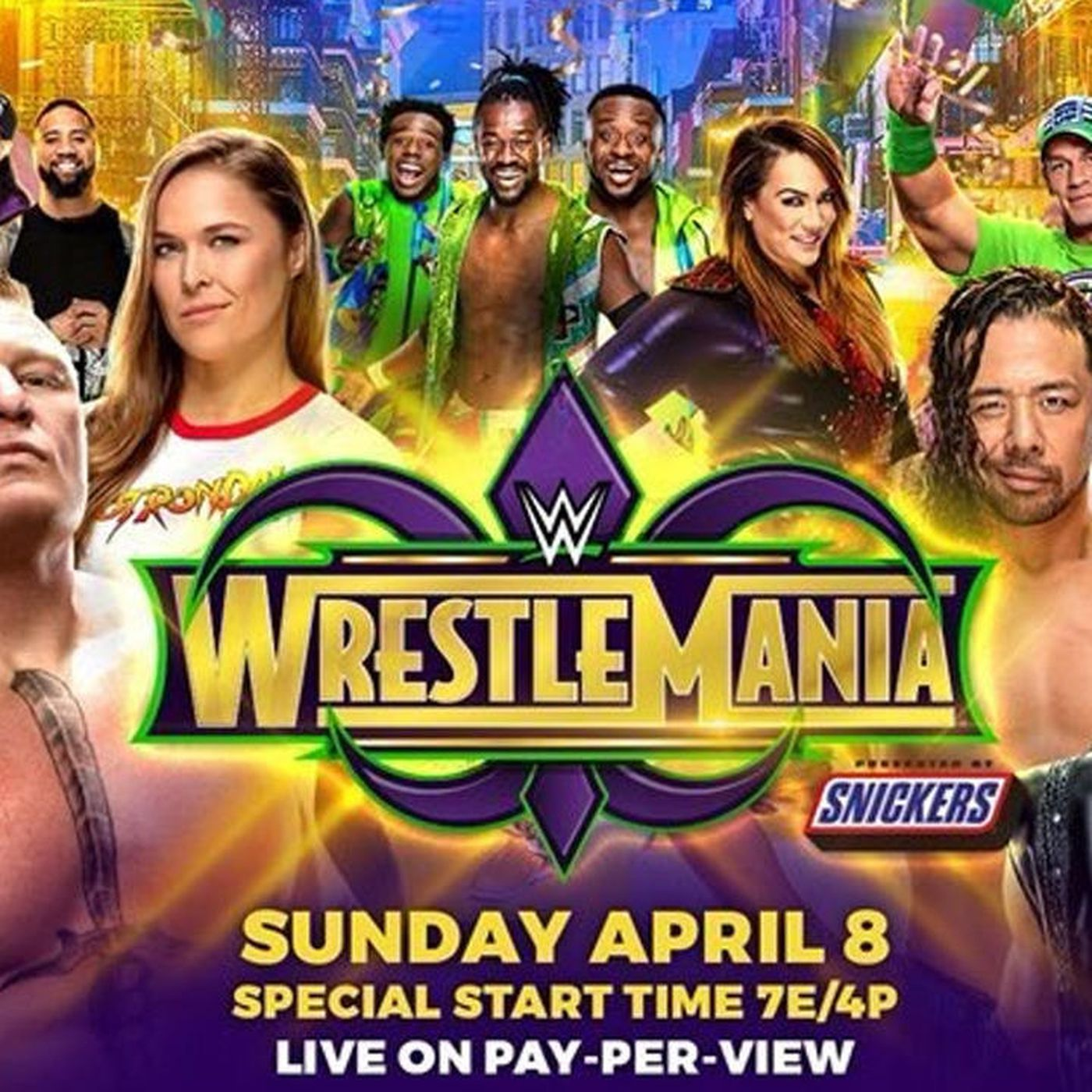wrestlemania 2018: time, tv schedule, matches for wwe's ppv event