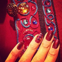 Mani-matching with a Saint Laurent jacket