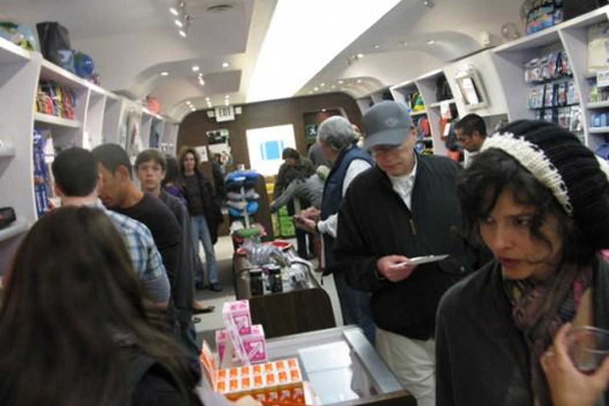 The popular travel shop during West 3rd street's holiday shopping event