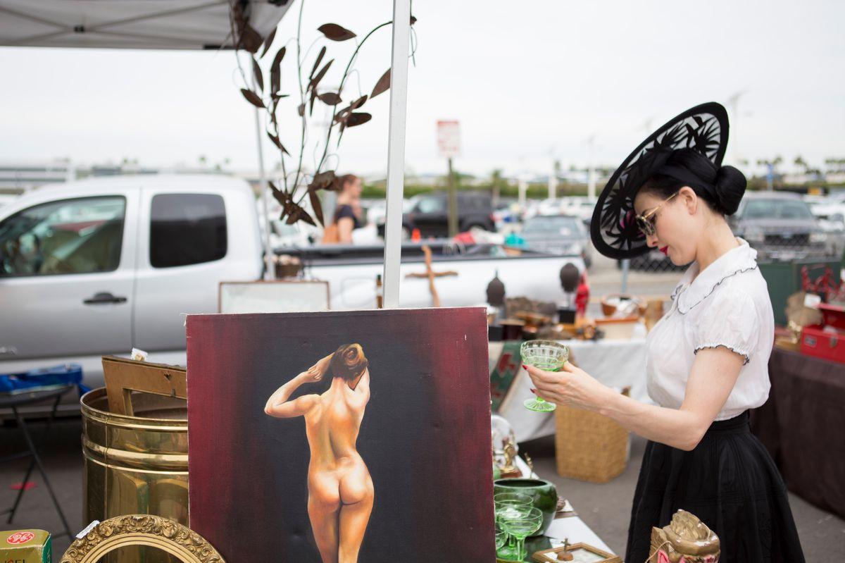 Queen of Burlesque Dita Von Teese Takes Us Antiquing