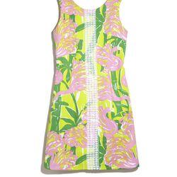'Fan Dance' shift dress, $38, 2-18, 14W-26W (plus-size online only)