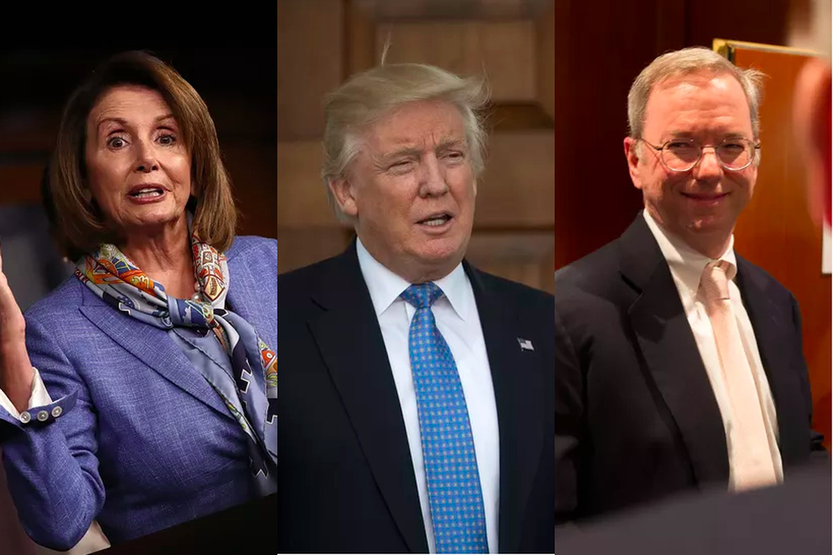 Trump's unlikely allies in tech policy could include Eric Schmidt and Nancy Pelosi