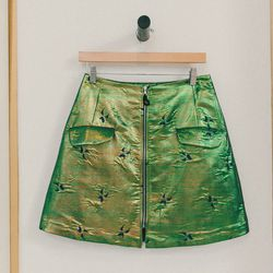 """Risto zippered front mini skirt, <a href=""""http://swords-smith.com/products/risto-zipped-front-mini-skirt"""">$550</a>"""