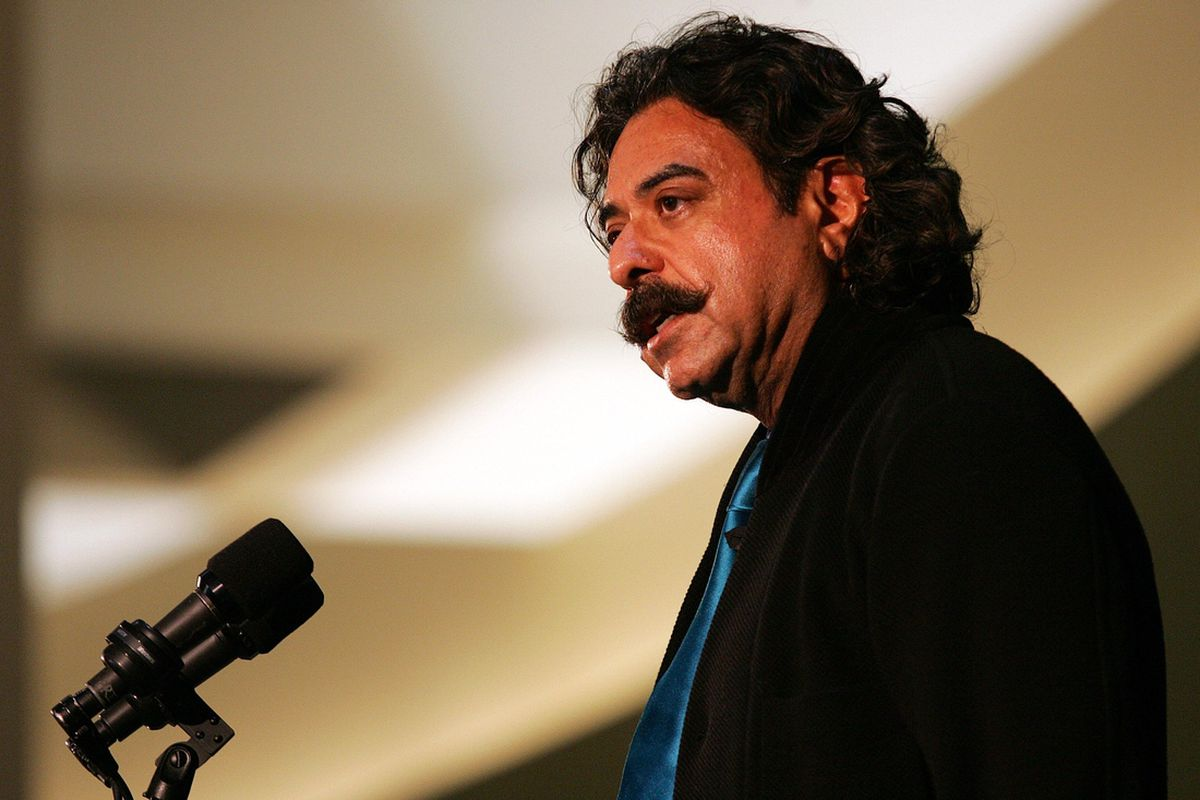 Dec 16, 2011; Jacksonville, FL, USA; Jacksonville Jaguars new owner Shahid Khan talks to the media during a press conference at EverBank Field. Mandatory Credit: Jake Roth-US PRESSWIRE