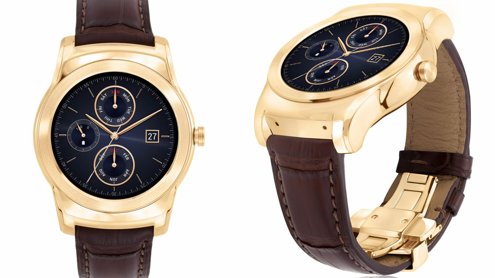 The LG Watch Urbane Luxe is a 23-karat gold smartwatch for ...